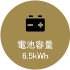 電池容量 6.5kWh