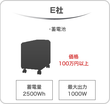 E社 価格100万円以上