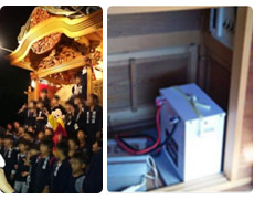 お祭りでの電源確保の画像