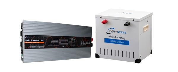 マルチインバーター + リチウムイオンバッテリー セット