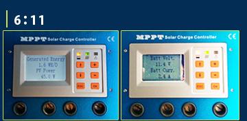 MPPT充電コントローラーモニター画面1