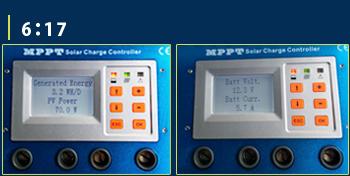 MPPT充電コントローラーモニター画面2