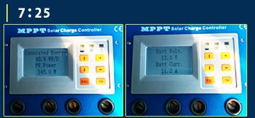 MPPT充電コントローラーモニター画面3
