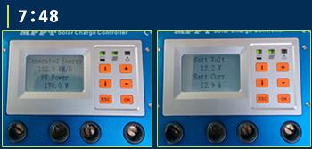 MPPT充電コントローラーモニター画面4