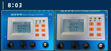 MPPT充電コントローラーモニター画面5