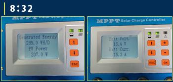 MPPT充電コントローラーモニター画面6