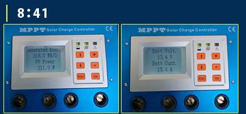 MPPT充電コントローラーモニター画面7