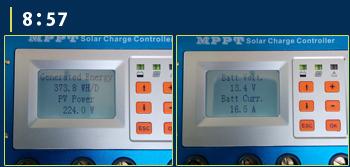 MPPT充電コントローラーモニター画面8