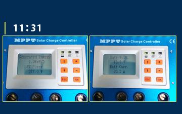 MPPT充電コントローラーモニター画面9