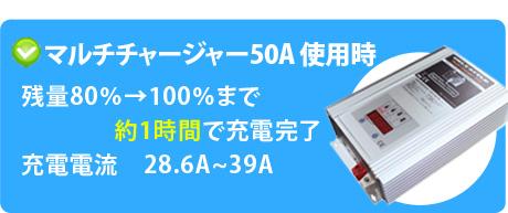 マルチチャージャー50A使用時